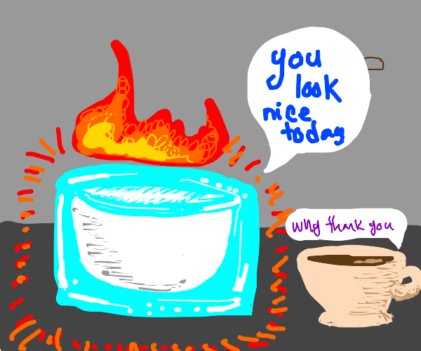 A nice cup of hot milk