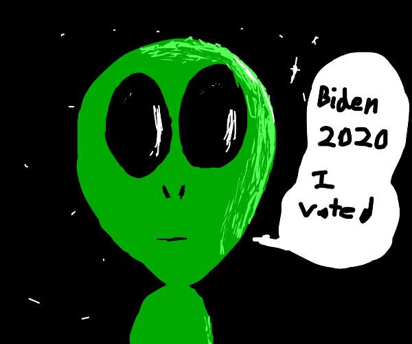 alien votes for biden 2020
