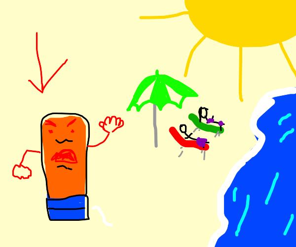Annoyed Sunscreen