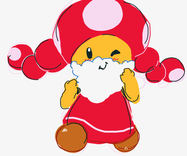 Toadette with beard