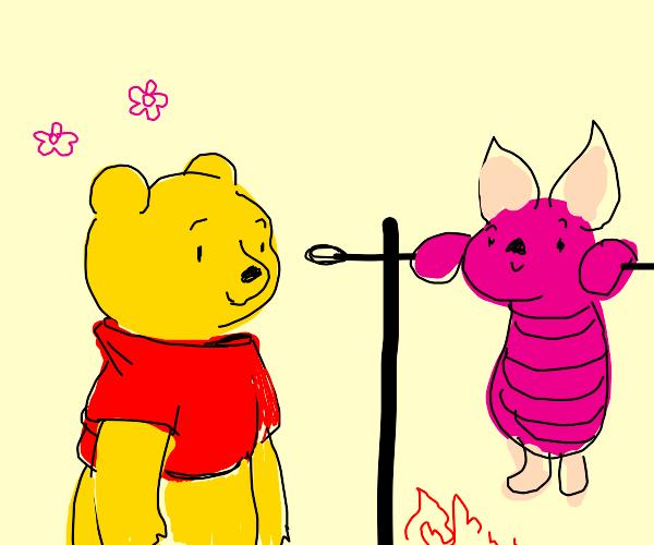 Winnie The Pooh roasts Piglet