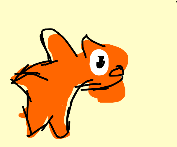Goldfish from Cat in the hat trying to escape