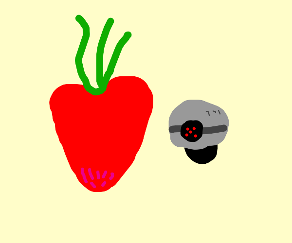 A radish and a drone from the sonic movie