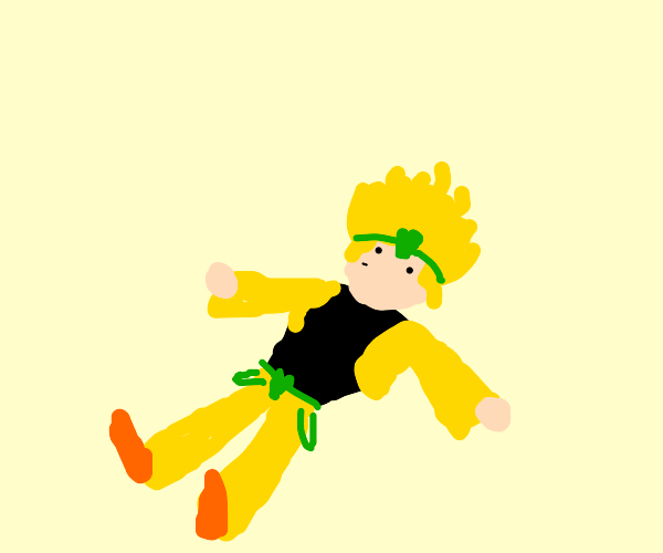 DIO is lying down