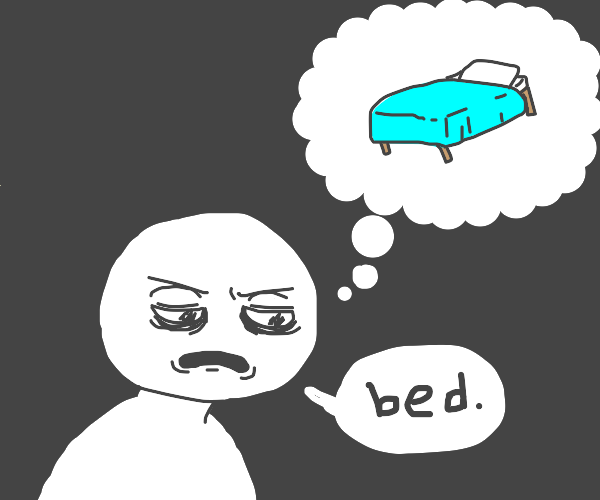 man craves bed