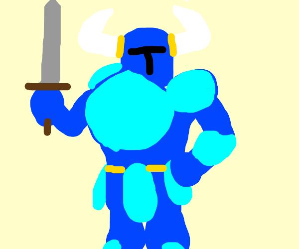 shovel knight but its just a knight