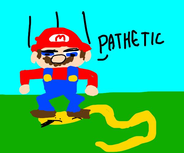 """Mario defeats a snake """"pathetic"""""""