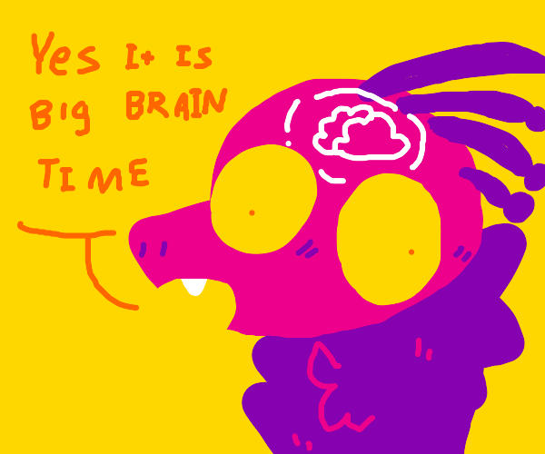 Big brain dinosaur