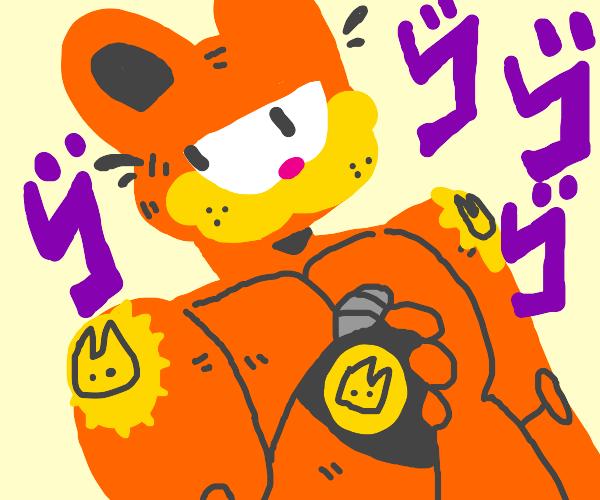 Garfield But He S Jotaro Drawception