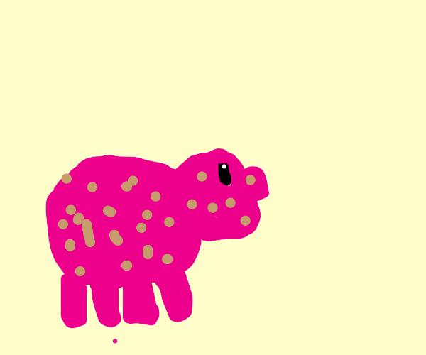 Pig with mud splatters