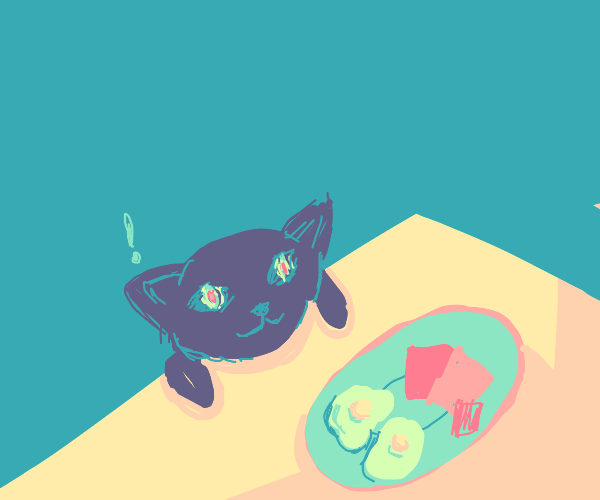 cat wants green eggs and ham