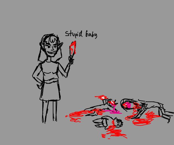 Badass mother kills children