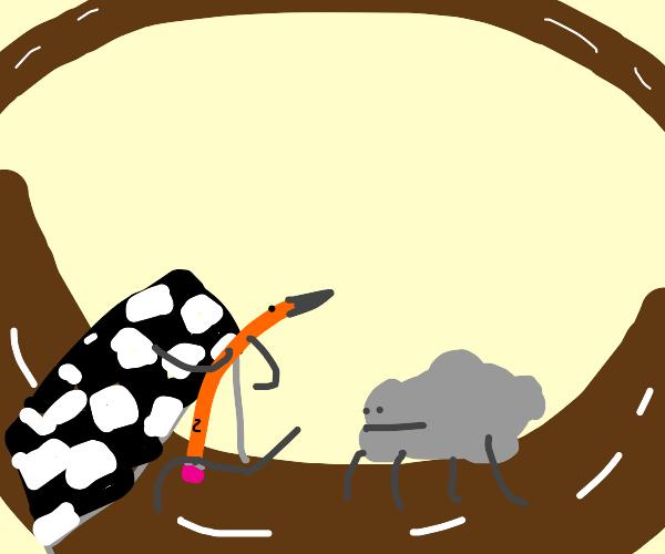 Pencil wins a race