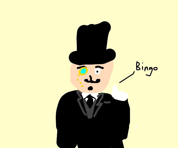 "man calls ""BINGO!"""