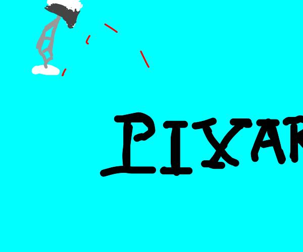 Pixar lamp assasinates the letter I from afar