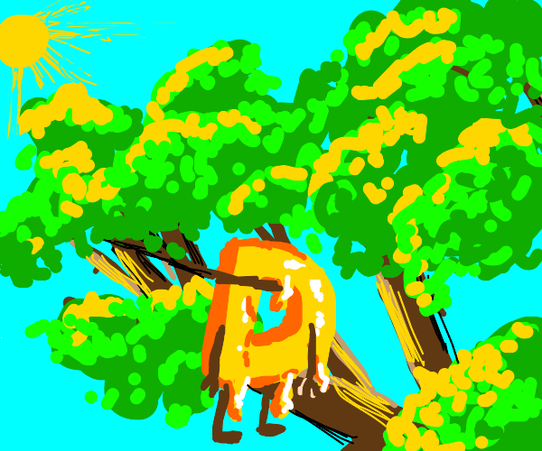 Drawception D but as honey in a tree