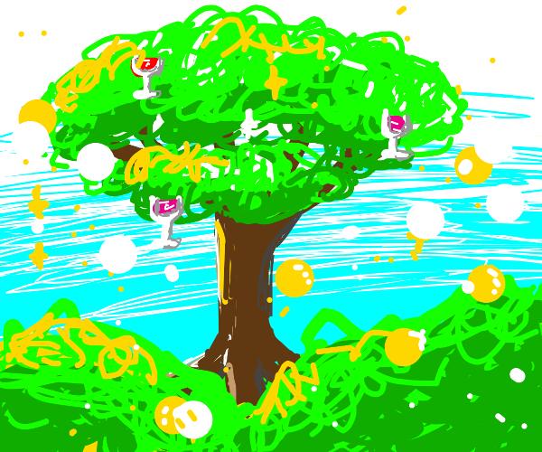 A magical wine tree...