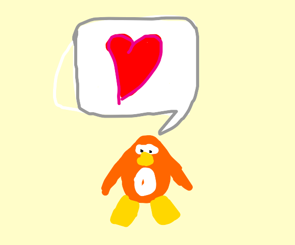 Club Penguin Penguin Spamming Heart Emotes