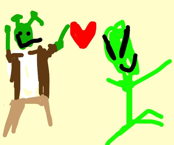 Shrek loves alien(from the alien movie serie)