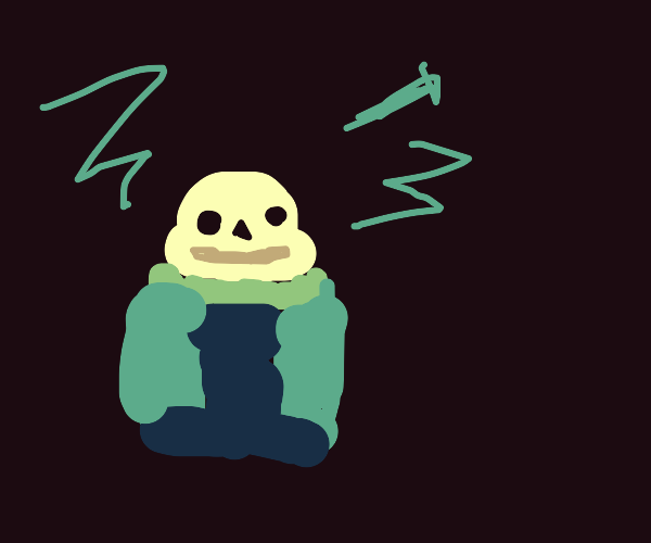 Sans gets electrocuted ?