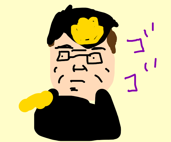 Hank Hill except now he's Jotaro