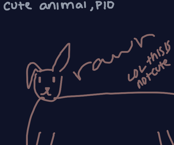 Draw a cute little animal. Pass It On.