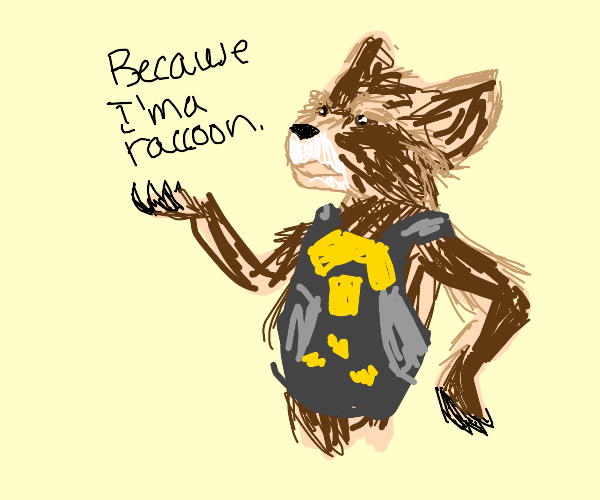 Because I'm a raccoon.