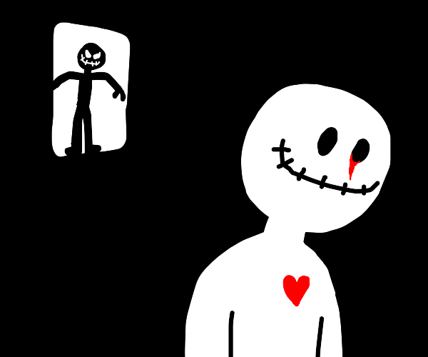 shadow man has it out for voodoo doll