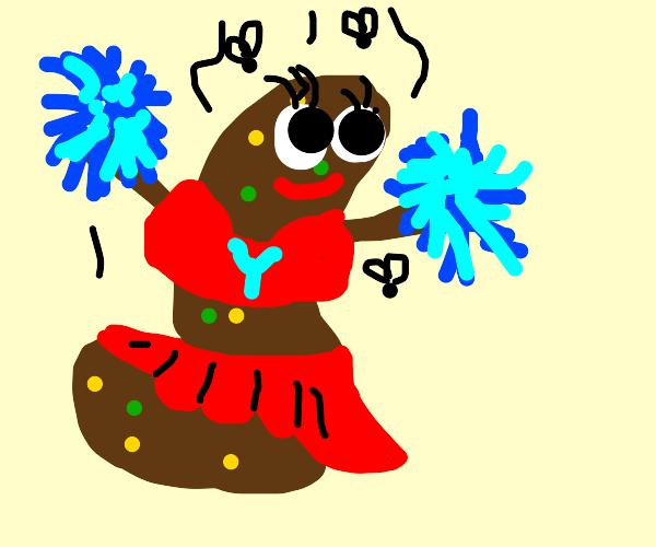 Poop cheerleader