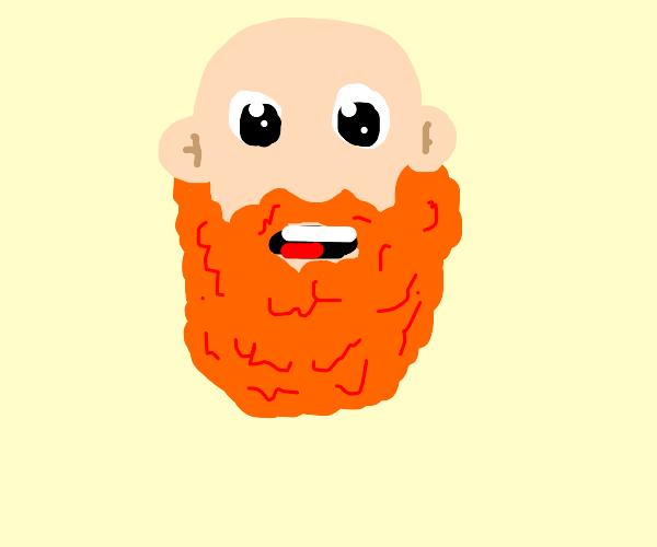 Guy has a ginger beard.