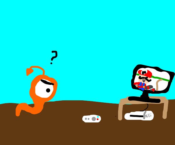 orange creature cant understand nintendo wii