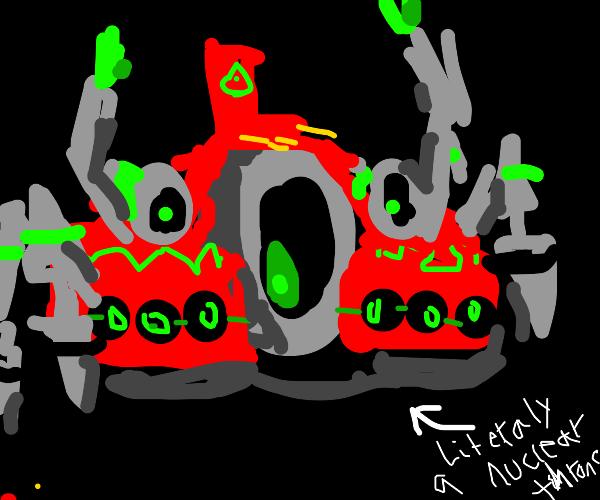 A literal Nuclear Throne