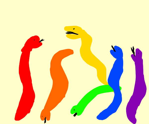 Coloured snakes