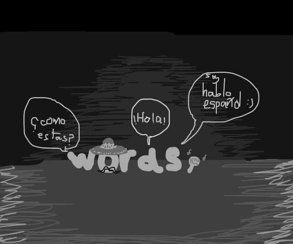 spanish words in the dark