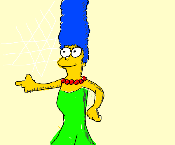 Marge simpson does a fortnite dance