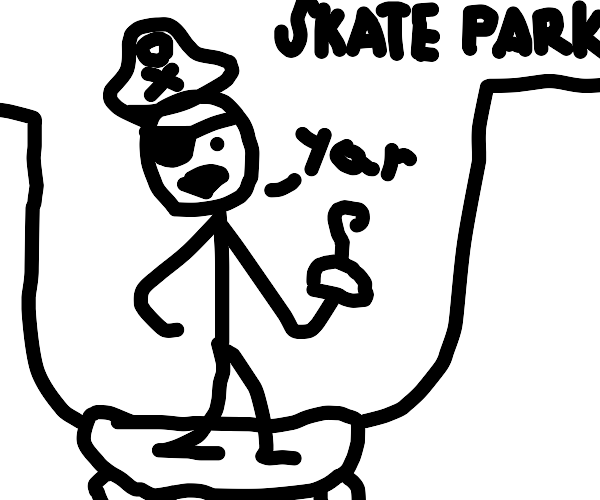 captain hook ridin a le epic skate boreddd