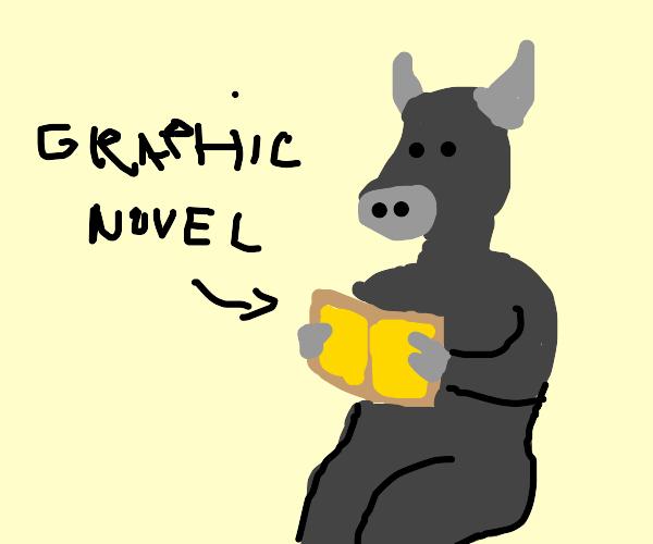 bull reads graphic novel
