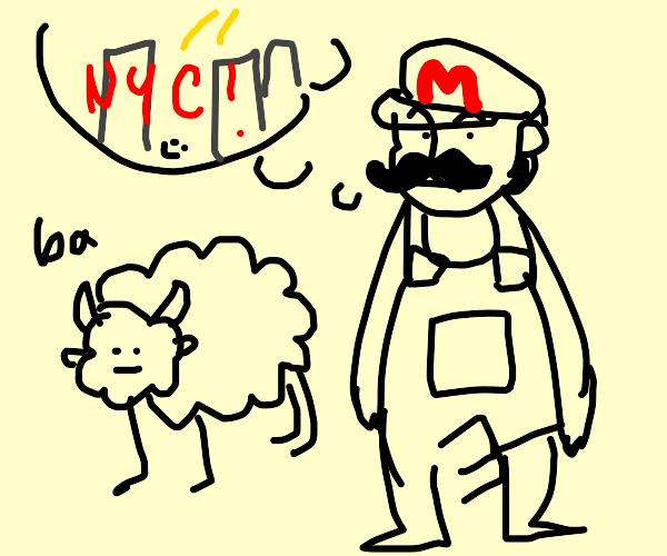 Farmer Mario thinks of life in New York city