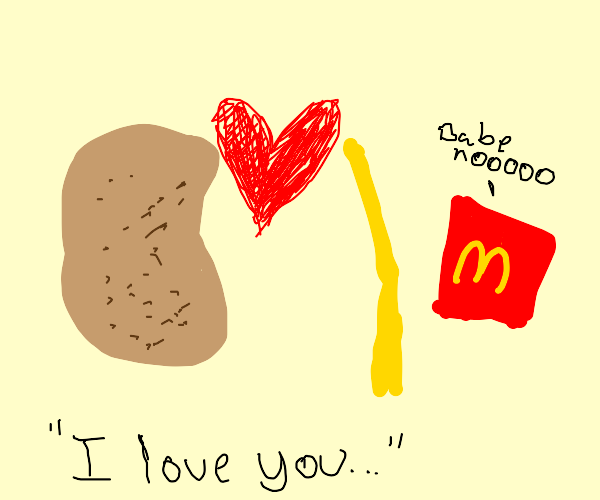 Potato falls in luv with M French fry