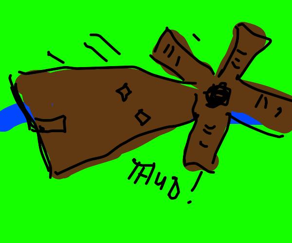 Windmill fell over