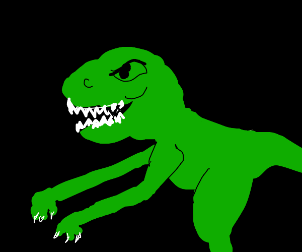 T-rex with long arms