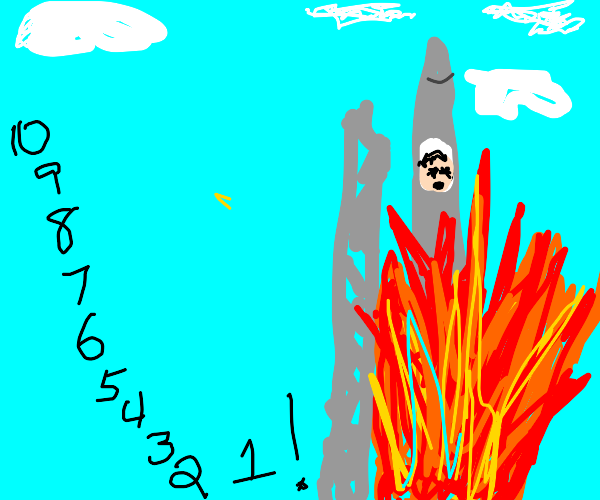 rocket launch gone seriously wrong