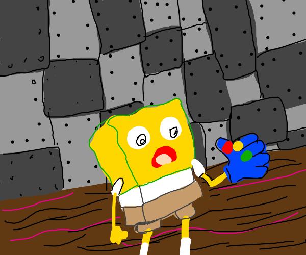 Spongebob with Infinity Gauntlet