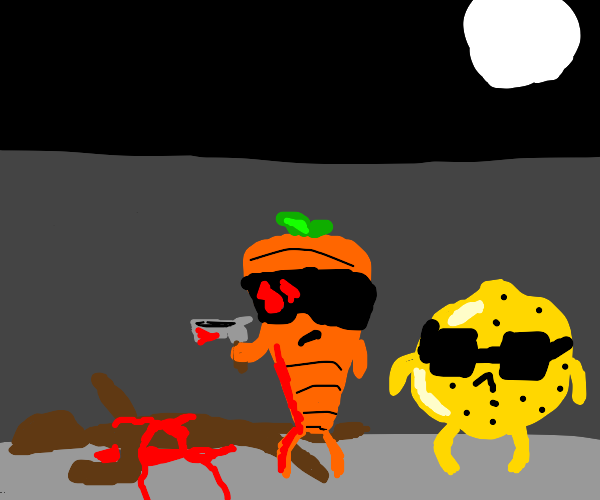 black man killed by a carrot and a lemon