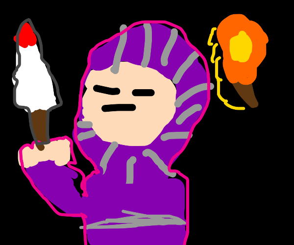the purple knight is here to slay