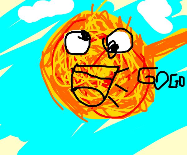 baby sun says gogo (sun not son)