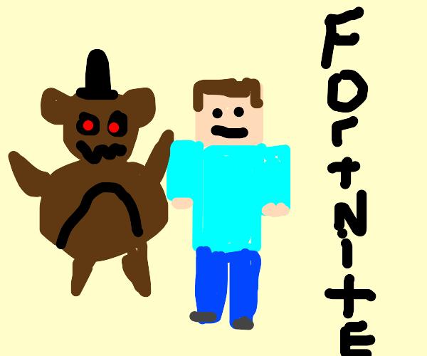 fnaf x minecraft x fortnite