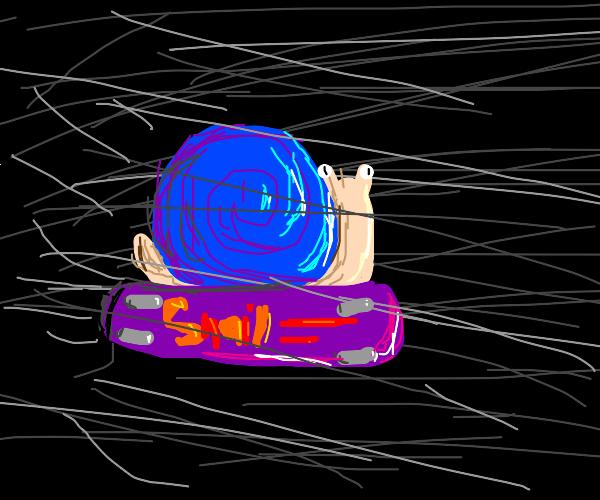 Snail on a skateboard