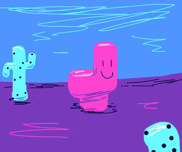 The Happy toilet in the middle of a Desert