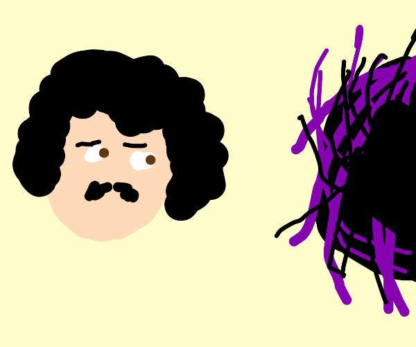 Edgar Allen Poe sideeyes the void